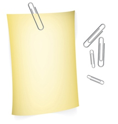 Notes with paperclips vector