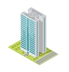 Realistic office building isometric skyscraper vector image vector image