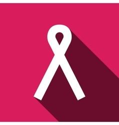Ribbon breast cancer awareness symbol vector