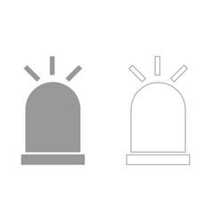 siren set icon vector image vector image