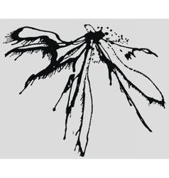Splatter Black Ink Background vector image vector image