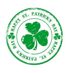st patricks day green grunge rubber stamp vector image