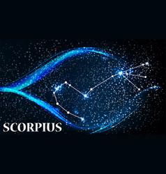 Symbol scorpius zodiac sign vector