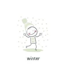 winter Walk vector image vector image