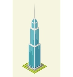 Realistic office building isometric skyscraper vector image