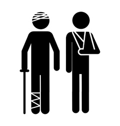Injured person icon image vector