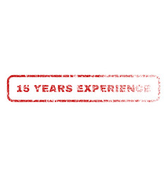 15 years experience rubber stamp vector