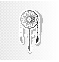 Dream catcher sign  new year blackish icon vector