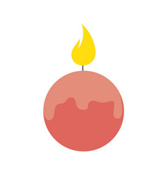 spa candle isolated icon vector image