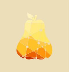 Pear multicolor vector