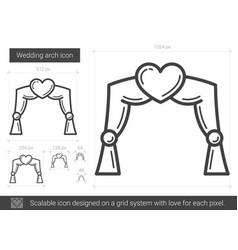 Wedding arch line icon vector