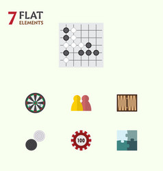 Flat icon play set of arrow poker people and vector