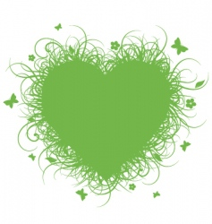 Grass heart vector
