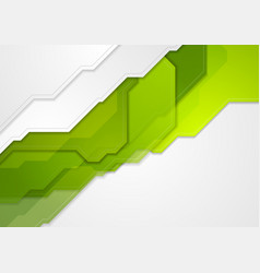 Abstract green tech corporate background vector