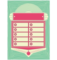 1950s Style Jukebox Background and Frame vector image vector image