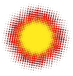 Abstract digital blob halftone flash plus eps10 vector