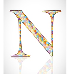 Abstract letter n vector