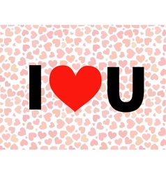 Valentine i love you lettering with red vector