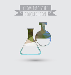 Bulb symbol icon of medicine or chemistry the vector