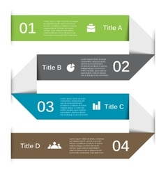 Arrows lines infographic template for vector