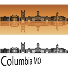 Columbia skyline in orange vector