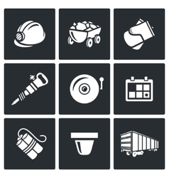 Mine icons vector