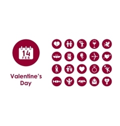 Set of valentineys day simple icons vector