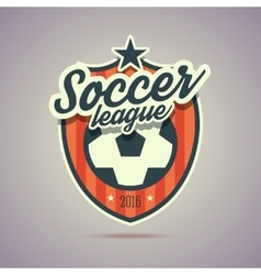 Soccer league badge vector