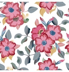 Seamless pattern displaying bold flowers vector