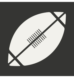Flat in black and white mobile application rugby vector