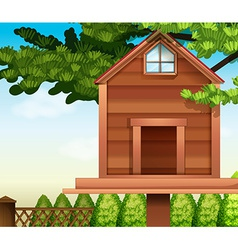 A wooden bird house vector
