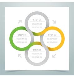 Abstract 4 Circle Ribbon Infographic 2 vector image vector image