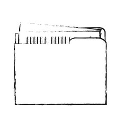 Blurred silhouette court documents folder vector