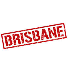 Brisbane red square stamp vector