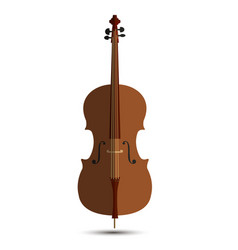 Cello music orchestra background isolated violin vector
