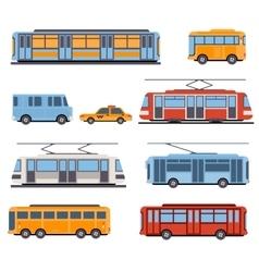 City and intercity transportation vector