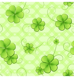 Clover leaves pattern vector image