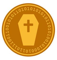 Coffin digital coin vector