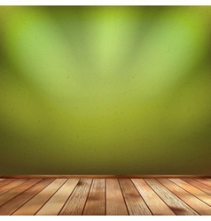 Empty interior with a green wall EPS 10 vector image vector image