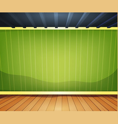 Empty room with striped wallpaper vector