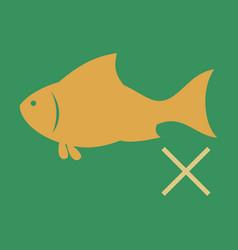 flat fish drawing seafood great for menu poster vector image vector image