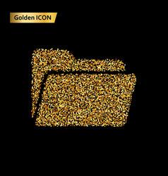 folder icon gold vector image vector image