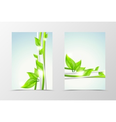 Front and back wave natural flyer template design vector image vector image