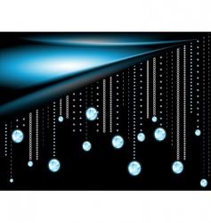 glowing diamonds vector image