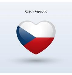 Love Czech Republic symbol Heart flag icon vector image vector image