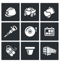 Mine icons vector