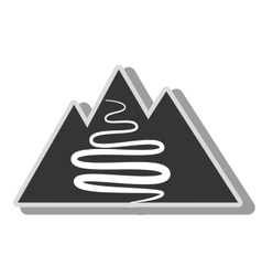 Mountain way icon vector