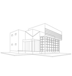 New house models wireframe vector