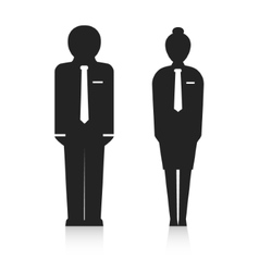 office workers silhouette vector image vector image