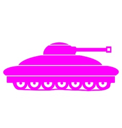 Panzer icon on white vector image